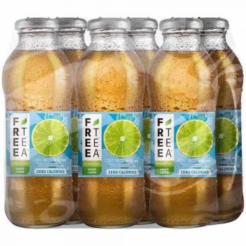 Té Verde FREE TEA Light Sabor Limón Botella 450ml Paquete 6unidades