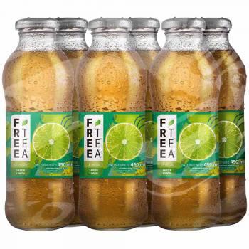 Té Verde FREE TEA Sabor Limón Botella 450ml Paquete 6unidades