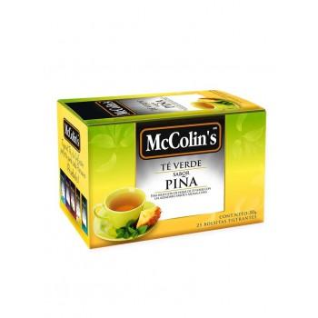 McColins Té Verde Sabor a Piña Caja 25 Unidades