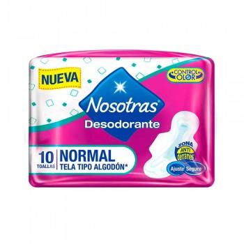NOSOTRAS Toalla Higiénica Normal con Desodorante Paquete 10unidades