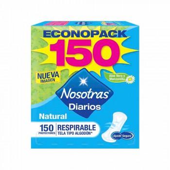 NOSOTRAS Protectores Diarios Respirable Caja 150unidades