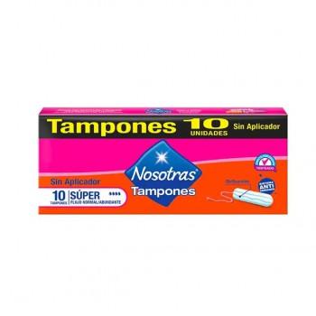 Tampones NOSOTRAS Sin Aplicador Súper Caja 10unidades
