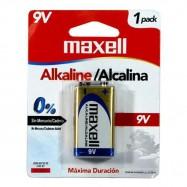 Batería 9V Alcalina Maxell...