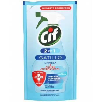 Desinfectante Líquido de Baño CIF Antibacterial Doypack 450ml