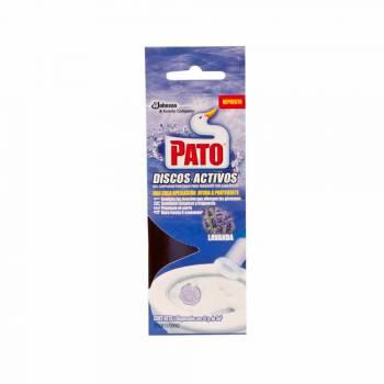 Desinfectante de Baño PATO Discos Activos Lavanda Repuesto Caja 1un